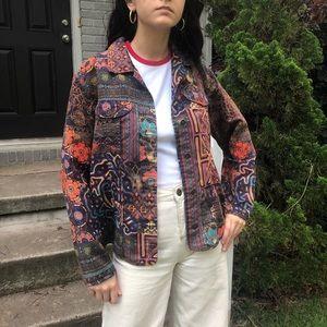Patterned trucker jacket